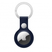 Apple Leather Key Ring for AirTag, Baltic Blue OEM