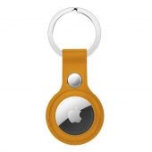 Apple Leather Key Ring for AirTag, California Poppy OEM