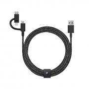 Native Union Belt 2m Cable Universal, Cosmos Black (BELT-ULC-CS-BLK-NP)