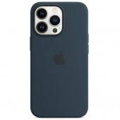Apple Silicone Case with MagSafe for iPhone 13 Pro, Abyss Blue (MM2J3)