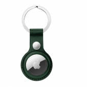 Apple Leather Key Ring for AirTag, Forest Green OEM