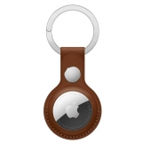 Apple Leather Key Ring for AirTag, Saddle Brown OEM