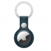 Apple AirTag Leather Key Ring, Baltic Blue (MHJ23)