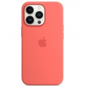 Apple Silicone Case with MagSafe for iPhone 13 Pro, Pink Pomelo (MM2E3)