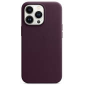 Apple Leather Case with MagSafe for iPhone 13 Pro, Dark Cherry (MM1A3)