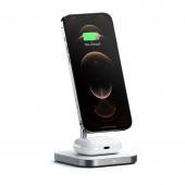 Satechi Aluminum 2 in 1 Magnetic Wireless Charging Stand, Space Grey (ST-WMCS2M)
