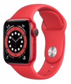 Apple Watch Series 6 40mm GPS Red Aluminum Case with (PRODUCT) RED Sport Band (M00A3) (O_B)