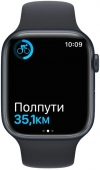 Apple Watch Series 7 41mm Midnight Aluminum Case with Midnight Sport Band MKMX3UL/A