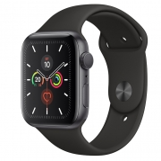 Open Box Apple Watch Series 5 GPS 44mm Space Gray Aluminum w. Black b.- Space Gray Aluminum (MWVF2)
