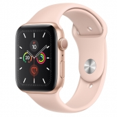 Apple Watch Series 5 40mm Gold Aluminium Case with Pink Sand Sport Band (MWV72) - (O_B)