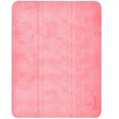 Comma Leather Case for iPad Pro 11 3rd Gen 2021 M1, Pink