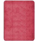 Comma Leather Case for iPad Pro 12.9 5th Gen 2021 M1, Red