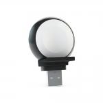 Зарядное устройство Zens Aluminium Apple Watch USB-Stick Black (ZEAW01B/00)